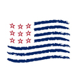 American wave flag Independence Day symbol vector image vector image