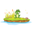 Angry Cartoon Frog vector image vector image