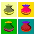 assembly flat potion cauldron vector image vector image