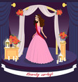 beauty contest winner greeting card concept