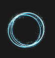 blue gold circle light effect with round glowing vector image vector image