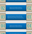 Blue paper numbered banners vector image vector image