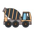 cement truck illsutratio vector image vector image