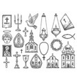 christian religion church bible god icon cross vector image