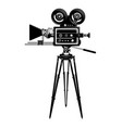 cinema movie camera side view template vector image vector image