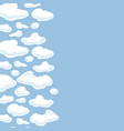 Clouds background seamless pattern for your