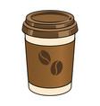 coffee cup pop art vector image vector image