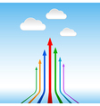 Colorful arrows pointing to the sky abstract vector image vector image