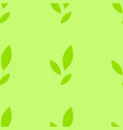 colorful seamless pattern of cute green leaves on vector image vector image