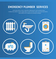 concept plumbing fixture vector image