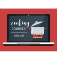Cooking course online vector image vector image