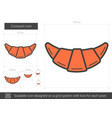 croissant line icon vector image vector image