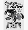 custom hotrod vector image