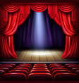 empty concert hall stage realistic vector image