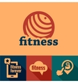 flat fitness emblems vector image vector image