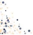 golden blue confetti transparent dots vector image