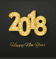 Happy new year 2018 greeting card design with