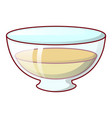 honey in plate icon cartoon style vector image