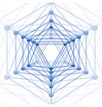 icosahedron with block connect vector image vector image
