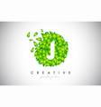 j green leaf logo design eco logo with multiple vector image vector image