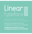 Linear letters and numbers vector image vector image