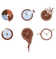 Lost time icon set vector image