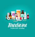 medicine concept pharmacy pharmaceutics vector image vector image