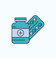 medicine pill capsule drugs tablet flat icon vector image