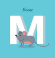 mouse with letter m isolated abc alphabet vector image
