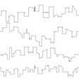 outline of city skyline seamless vector image vector image