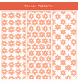 pattern set - beautiful flower pattern vector image vector image