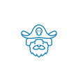 playing pirate linear icon concept playing pirate vector image vector image