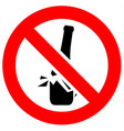prohibition red sign vector image