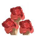 Red Ice cream Cones isolated vector image vector image