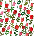 Roses seamless pattern Rose with a long stem and vector image