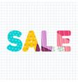 sale paper cut title design vector image vector image