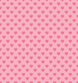 seamless pattern with pink hearts vector image vector image