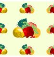 Seamless texture fruit healthy food vector image vector image