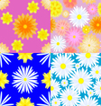Seamless texture of flowers vector image