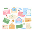 set envelopes with letters vector image