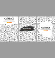 set of cashback service banners save your money vector image vector image