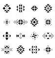 Set of elements in aztec style Collection vector image vector image