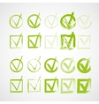 Set of hand-drawn check marks grunge checkmarks vector | Price: 1 Credit (USD $1)