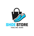 shoe shop modern logo vector image vector image
