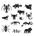 silhouette - animals vector image vector image