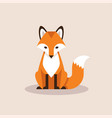 sitting fox vector image vector image