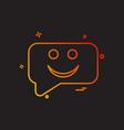 sms chat emoji icon design vector image