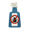 spray bottle with antipest sign isolated on white vector image vector image