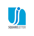 square initial letter i logo concept design vector image vector image