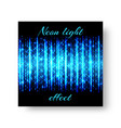 square notebook with neon light vector image vector image